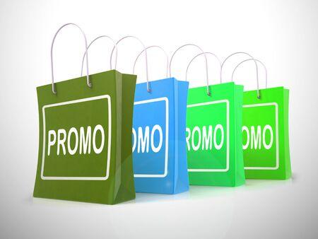 Promo promotion concept icon means best deals or price reductions. Low priced goods and e-commerce bargains - 3d illustration Foto de archivo - 128085679