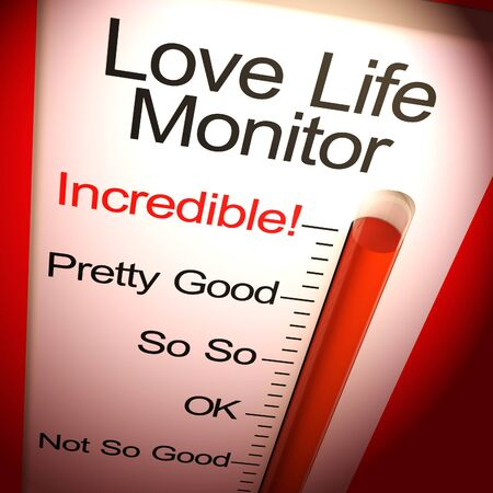 Love life monitor incredible means intimate sex life - 3d illustration