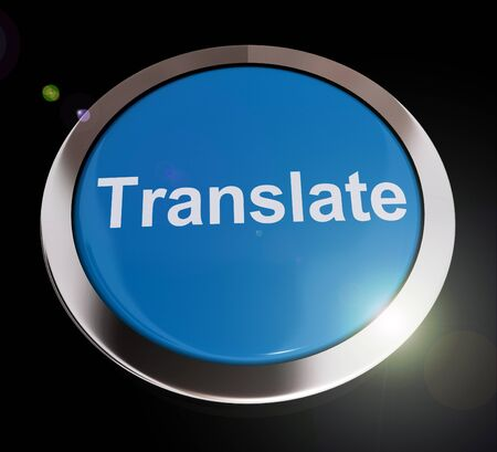 Translate concept icon means changing language in text or conversation. Deciphering and rephrasing other languages - 3d illustration Reklamní fotografie