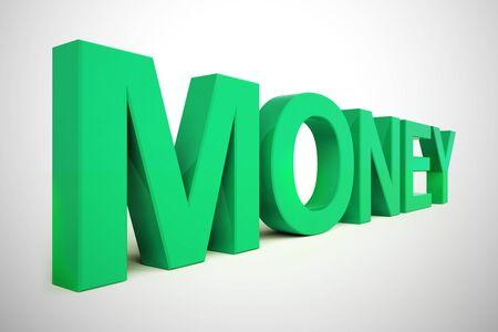 Money concept icon meaning business dollars and profit. Finances and funds through monetary enterprise - 3d illustration Foto de archivo - 128085720