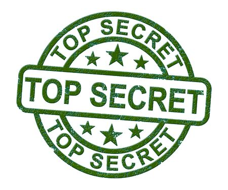 Top secret stamp and confidential showing a clandestine classification of restricted work. Private information or sensitive data - 3d illustration