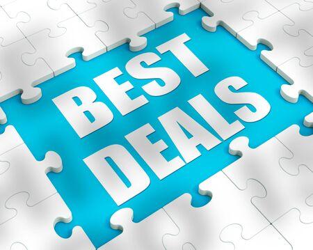 Best deals sale for price cuts on products. Ecommerce value shopping with reduced prices - 3d illustration Stockfoto