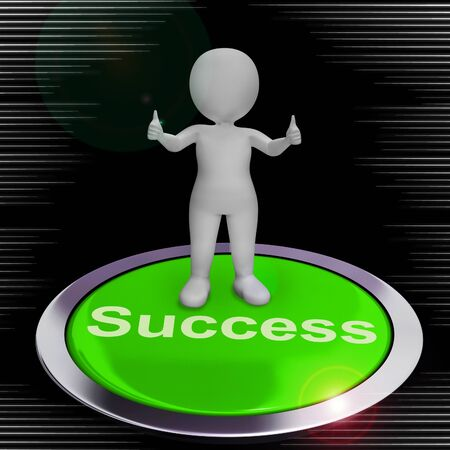 Success concept icon means victory in business and leadership. Positive improvement or breakthroughs - 3d illustration