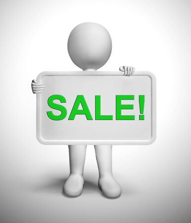 Sale discounts concept icon means best prices and bargains. A reduction in cost or marked down price - 3d illustration