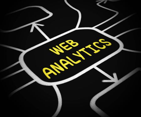 Web Analytics means investigation of business data. A report on accounting or usage statistics - 3d illustration