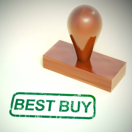 Best buy bargain products with reductions and discount prices. Value shopping at a store or online - 3d illustration Stockfoto