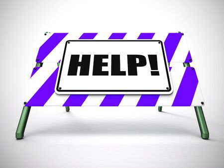 Help concept icon means guidance and tips to a customer. Assisting and knowledge from a helpdesk - 3d illustration
