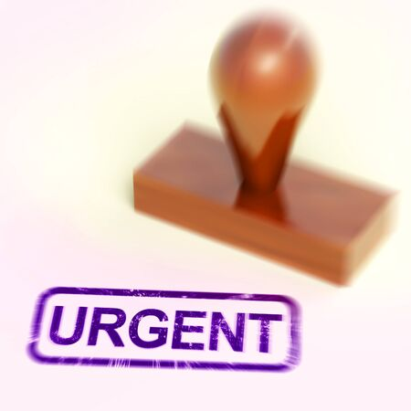 Urgent concept icon means important significant and essential. An imperative project needs to be done - 3d illustration