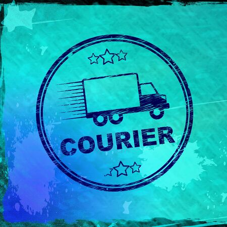 Courier service concept icon means shipping express delivery.  Mail service and logistics - 3d illustration