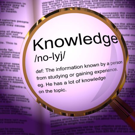 Knowledge concept icon mean information or data. Accessing records for guidance and enlightenment - 3d illustration