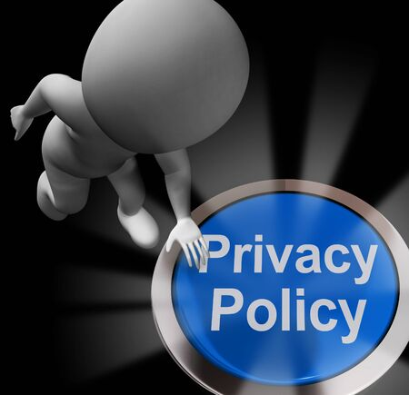 Privacy policy or statement of intent for data protection directive. Website policies or rules - 3d illustration Stockfoto
