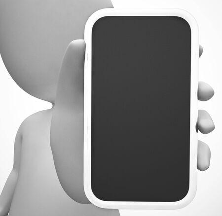 Smartphone or cellular mobile device for apps and internet. mobile communications or online service - 3d illustration