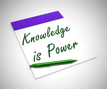 Knowledge is power concept icon mean information or data. Accessing records for guidance and enlightenment - 3d illustration 写真素材
