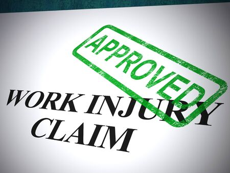 Work injury claim approved means a successful application for medical expenses. Doctors bills and health costs repaid - 3d illustration