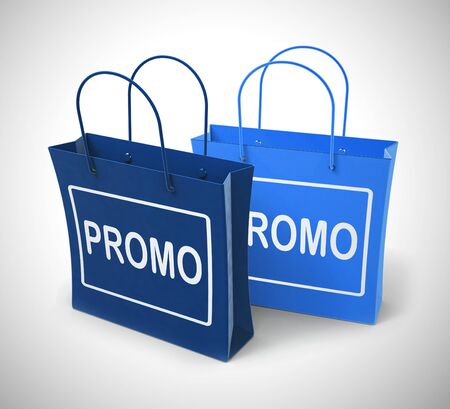 Promo promotion concept icon means best deals or price reductions. Low priced goods and e-commerce bargains - 3d illustration