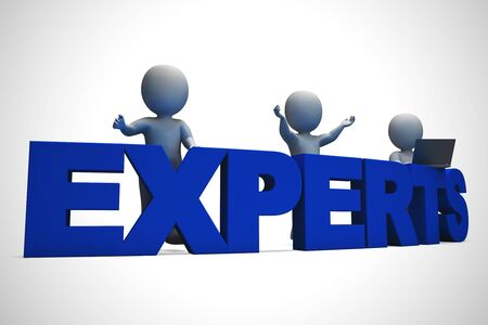 Expertise icon concept meaning mastery and knowledge. Professional skill sets of qualified personnel - 3d illustration