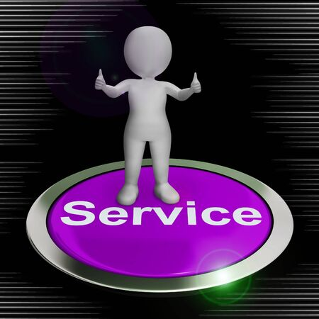 Service or services concept icon shows assistance advice or help to customers. Helpline or help desk advisory - 3d illustration