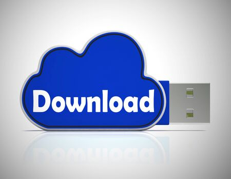 Download icon concept  depicts receiving information or data on the internet. System transfer to home PC - 3d illustration