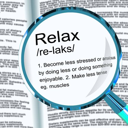 Relax definition means take it easy rest and unwind. Be lazy and chill and just let things go - 3d illustration