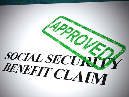 Social security benefit claim approved or endorsed. Medical compensation and reimbursement accepted - 3d illustration
