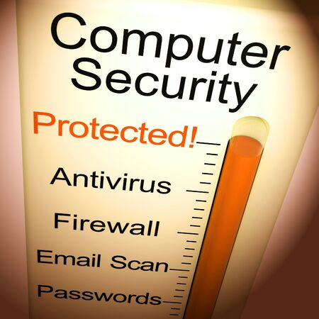 Cybersecurity or computer security encryption to guard against attack. Virtual threats across the web - 3d illustration