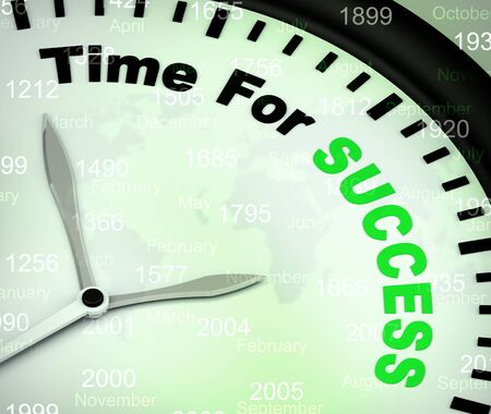 Time for success concept icon means victory in business and leadership. Positive improvement or breakthroughs - 3d illustration