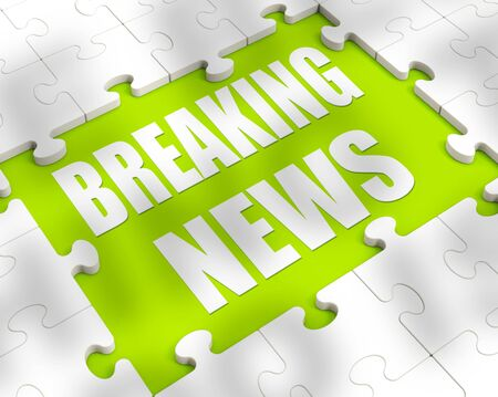 Breaking news concept icon shows latest reports and announcements. An internet global newspaper for headlines and journalism - 3d illustration