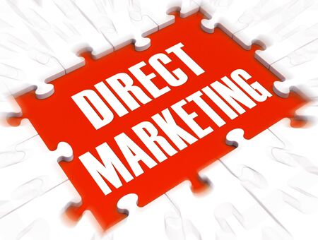 Direct marketing concept icon means commercial salesmanship on the telephone. Advertising products in a marketing campaign - 3d illustration