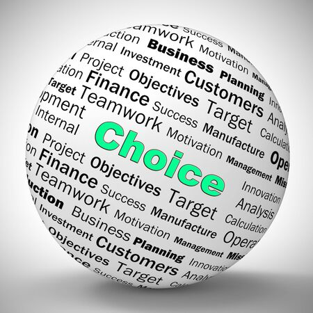 Choice concept icon means having options to decide preferences. Choose the direction  and path - 3d illustration
