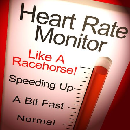 Heart rate monitor shows fast beat on an electrocardiograph. The blood pumping quickly in the  diagnosis - 3d illustration