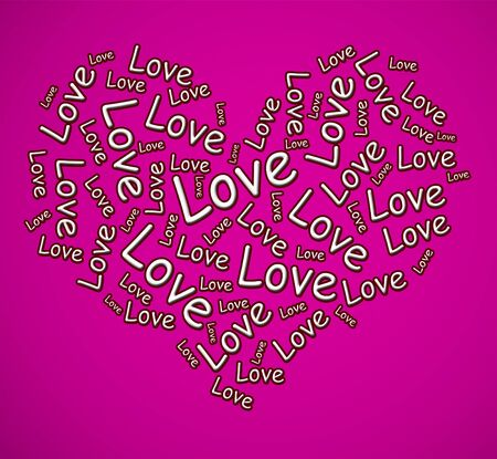 Love concept icon means I adore you and Im Yours. Fondness for a sweetheart - 3d illustration Imagens