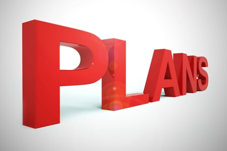 Plans concept icon means preparation and organisation of a project. Arrangements or blueprint of the strategic objectives - 3d illustration