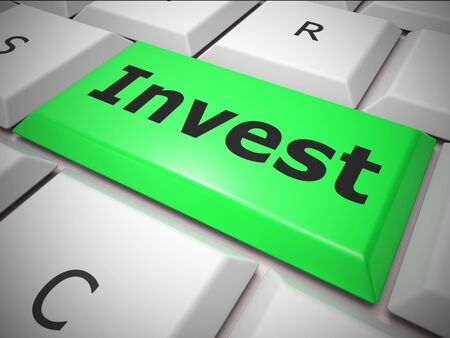 Invest concept icon means speculating using capital. Any money from successful growth - 3d illustration