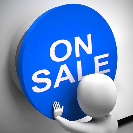 On sale discounts and deals showing reductions and reduced prices. A mark down and low-cost shopping - 3d illustration