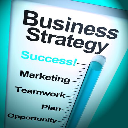 Business strategy or stratagem is important for corporate growth. A strategy with foresight for prosperity and success - 3d illustration