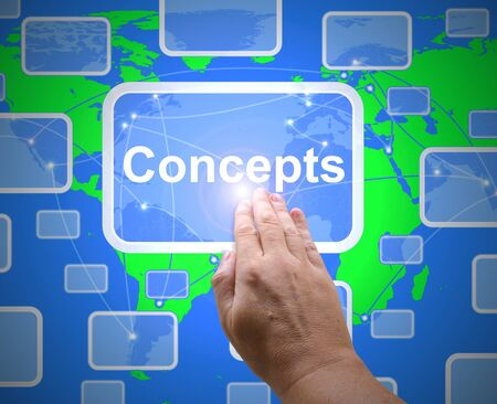 Concept or hypothesis icon means visualising the idea.  A basic proposal or theoretical prototype - 3d illustration