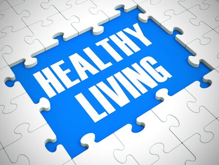 Healthy living concept icon means having a medical check up or physical. Well-being or wellness cared for by Doctor - 3d illustration Stock Photo