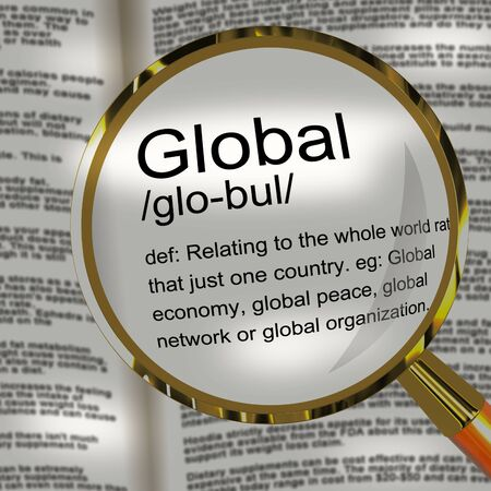 Global concept icon means worldwide or International trading. A virtual business connection around the world - 3d illustration