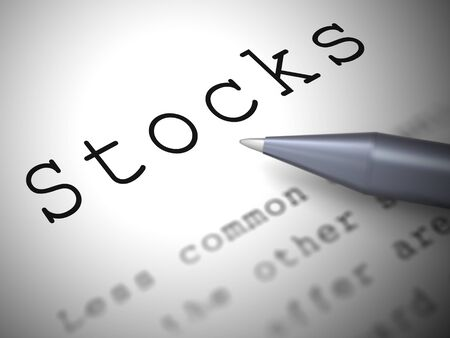 Stocks concept icon means assets such as bonds and shares. Blue chips and Stock Exchange investing - 3d illustration