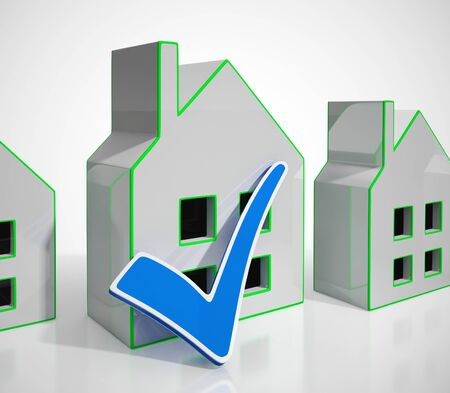 Home ownership concept icon means real estate through the internet. Property for investment or living in - 3d illustration