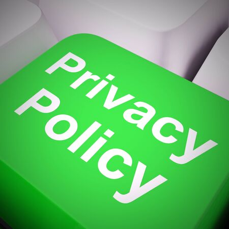 Privacy policy or statement of intent for data protection directive. Website policies or rules - 3d illustration Banco de Imagens