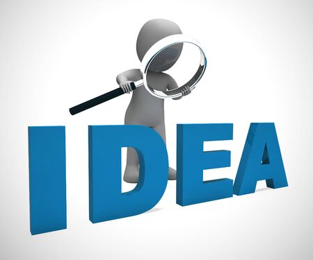 Idea Concepts icon means brainwave or brilliant thoughts and plan. Genius Concepts through research and thinking - 3d illustration