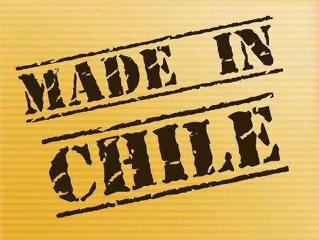 Made in Chile stamp shows Chilean products produced or fabricated. Quality patriotic exports for international trade - 3d illustration