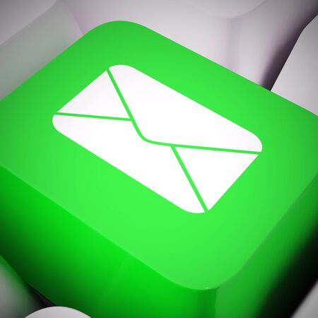 Email concept icons means electronic mail correspondence using internet. Sending messages online means quick communications - 3d illustration