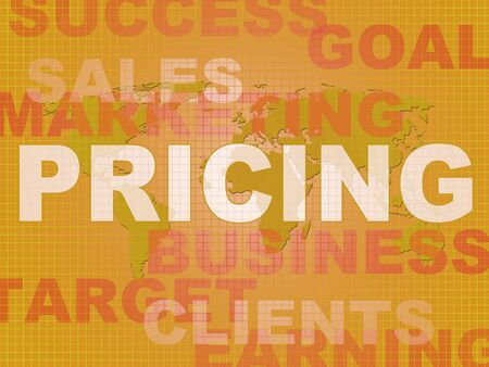 Pricing point or price fixing means setting rates or costs. The going rate or quotation - 3d illustration
