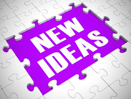 New ideas concept icon meaning creative thoughts from brainstorm. Suggested breakthroughs and views - 3d illustration