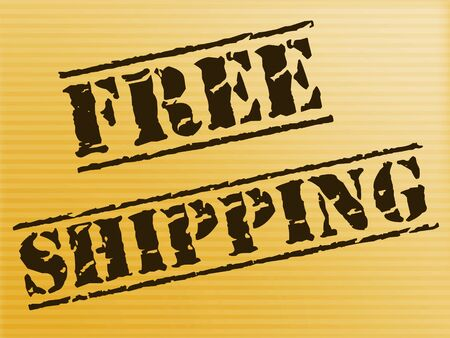 Free shipping of goods at no charge means nothing paid. Delivery price included in the selling amount - 3d illustration Stock fotó