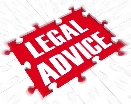 Legal advice concept means getting defence from a lawyer or Counsel. Consultation and guidance from an expert - 3d illustration Stok Fotoğraf