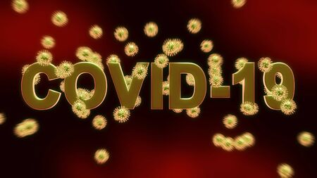 Covid 19 coronavirus outbreak shows novel virus spread. 2019-ncov epidemic or pandemic disease causing death and illness - 3d animation Standard-Bild