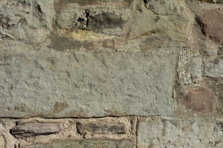 walling: Close up image of some old rustic stone walling. Textured background.